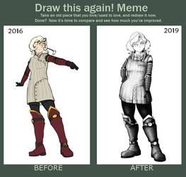 Redraw Meme - Revan by OaknOats