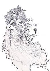 Line art: Serena by Jethyn