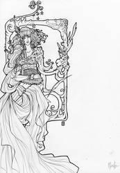 Line Art: Moretz by Jethyn