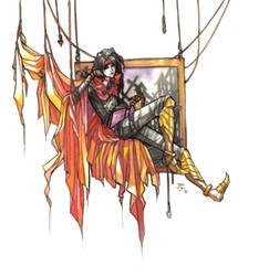 Dante's reader, fanart by Jethyn