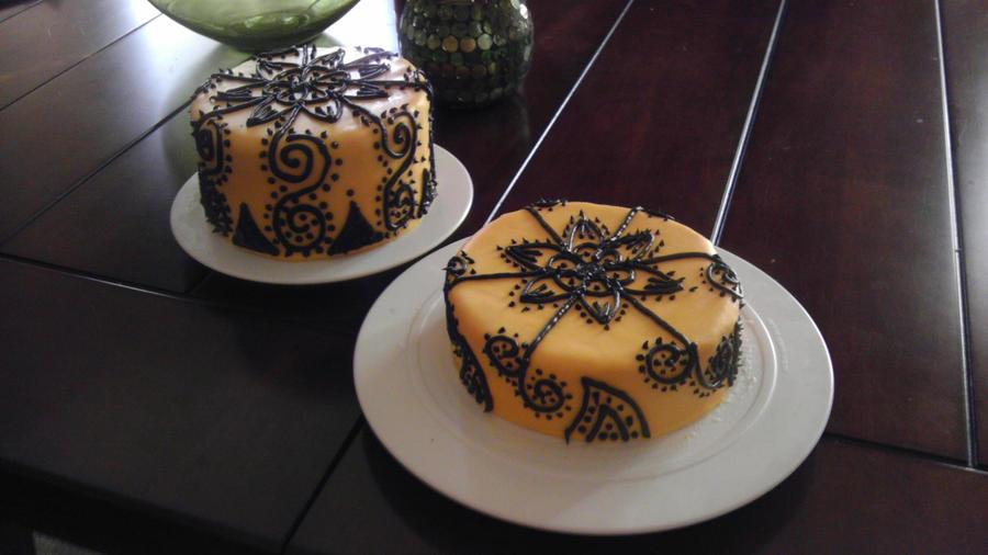 Simple Mehndi Cake : Simple henna cake makedes