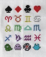 Homestuck Cross Stitch Sampler by xPoltergeistCatx