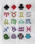 Homestuck Cross Stitch Sampler