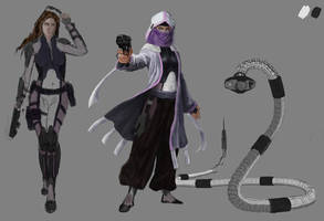 Sci-fi Hunter sketches by NatalieFuinha