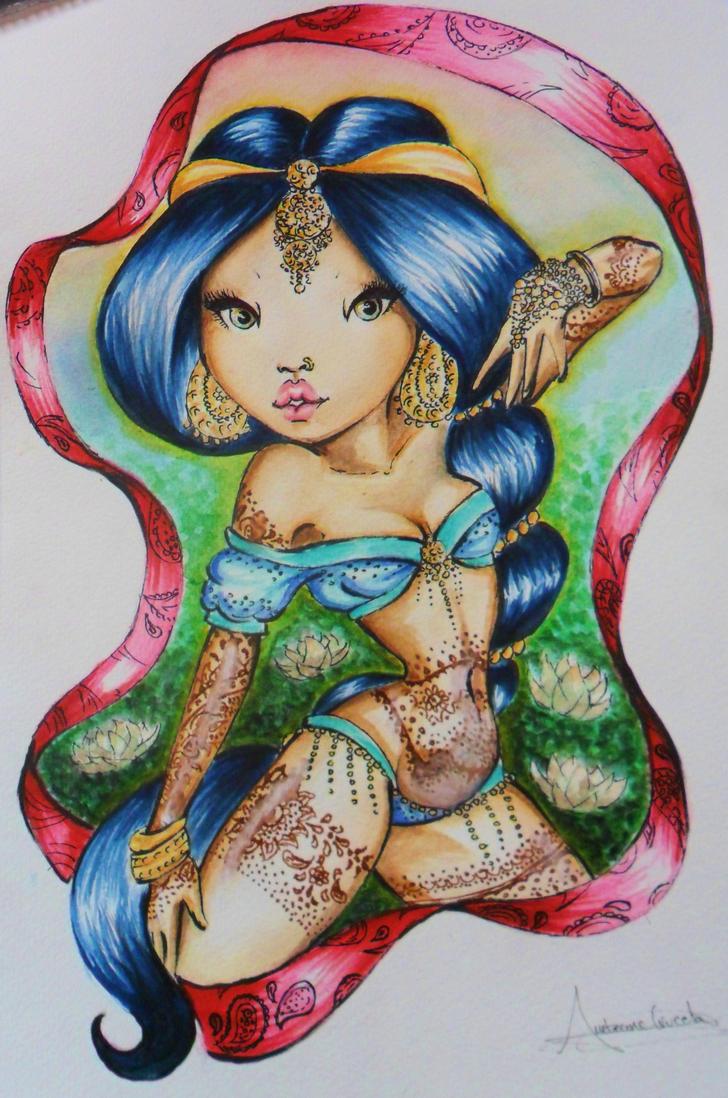 Mi version de jasmine de aladdin by xanxanilla on deviantart for Aladin tattoo salon