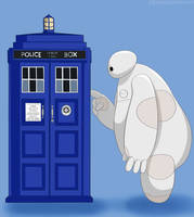 Baymax meet TARDIS by GemoDawnChan