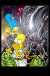 Alien Vs Simpsons
