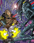 Simpsons vs Aliens vs Predator