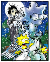 Simpson scissorhands by jlfletch
