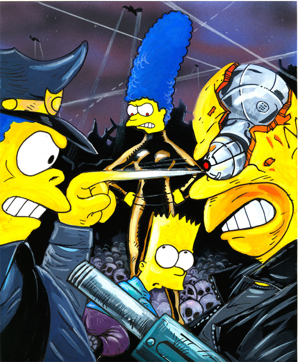 Bart Vs the Terminators by jlfletch