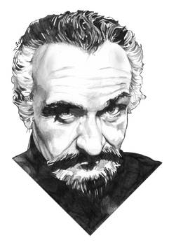 The Master pencil drawing
