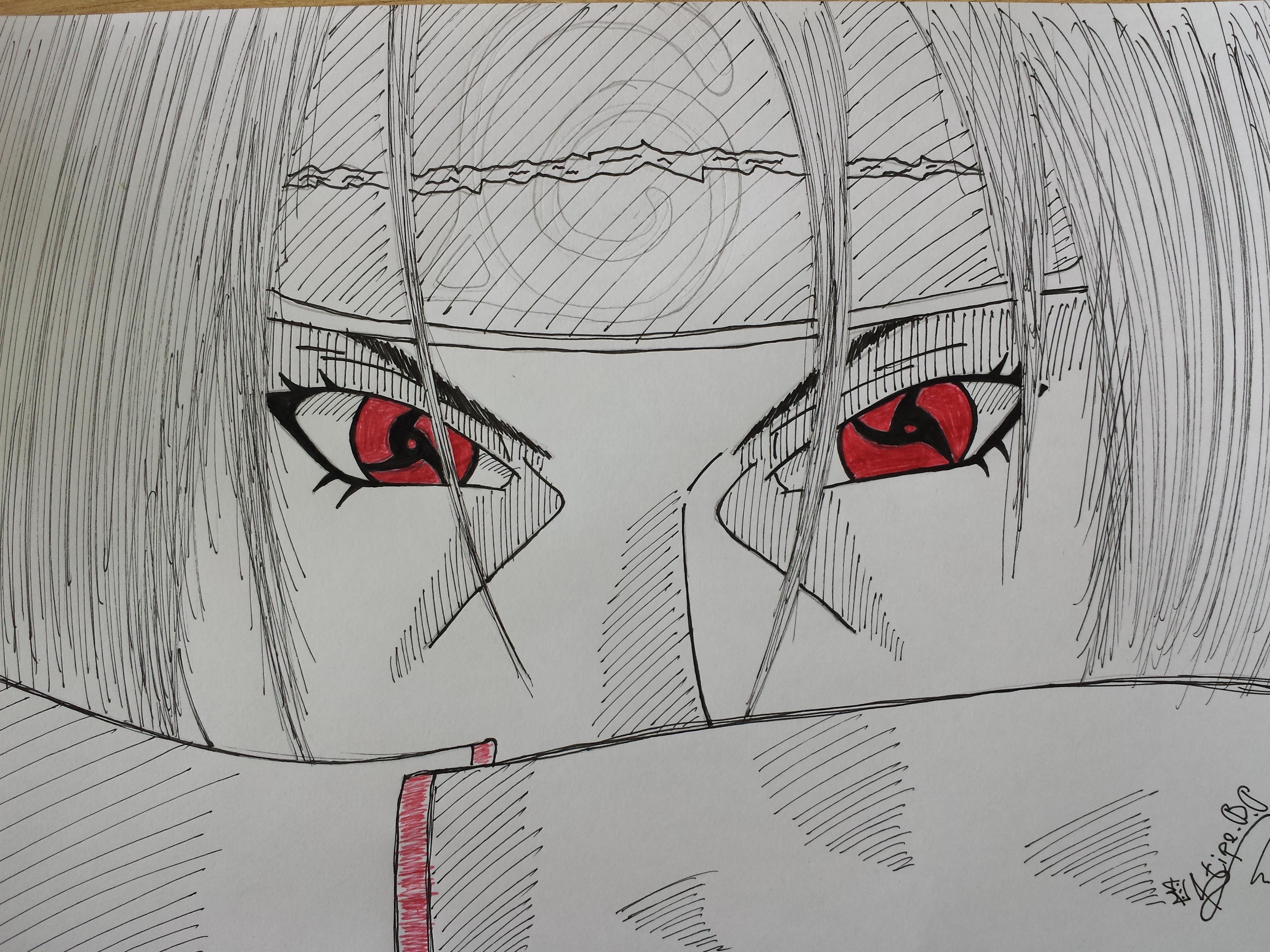 Uchiha Sasuke (Mangekyou Sharingan) by CriviumARTGAME on ... |Itachi Mangekyou Sharingan Drawing