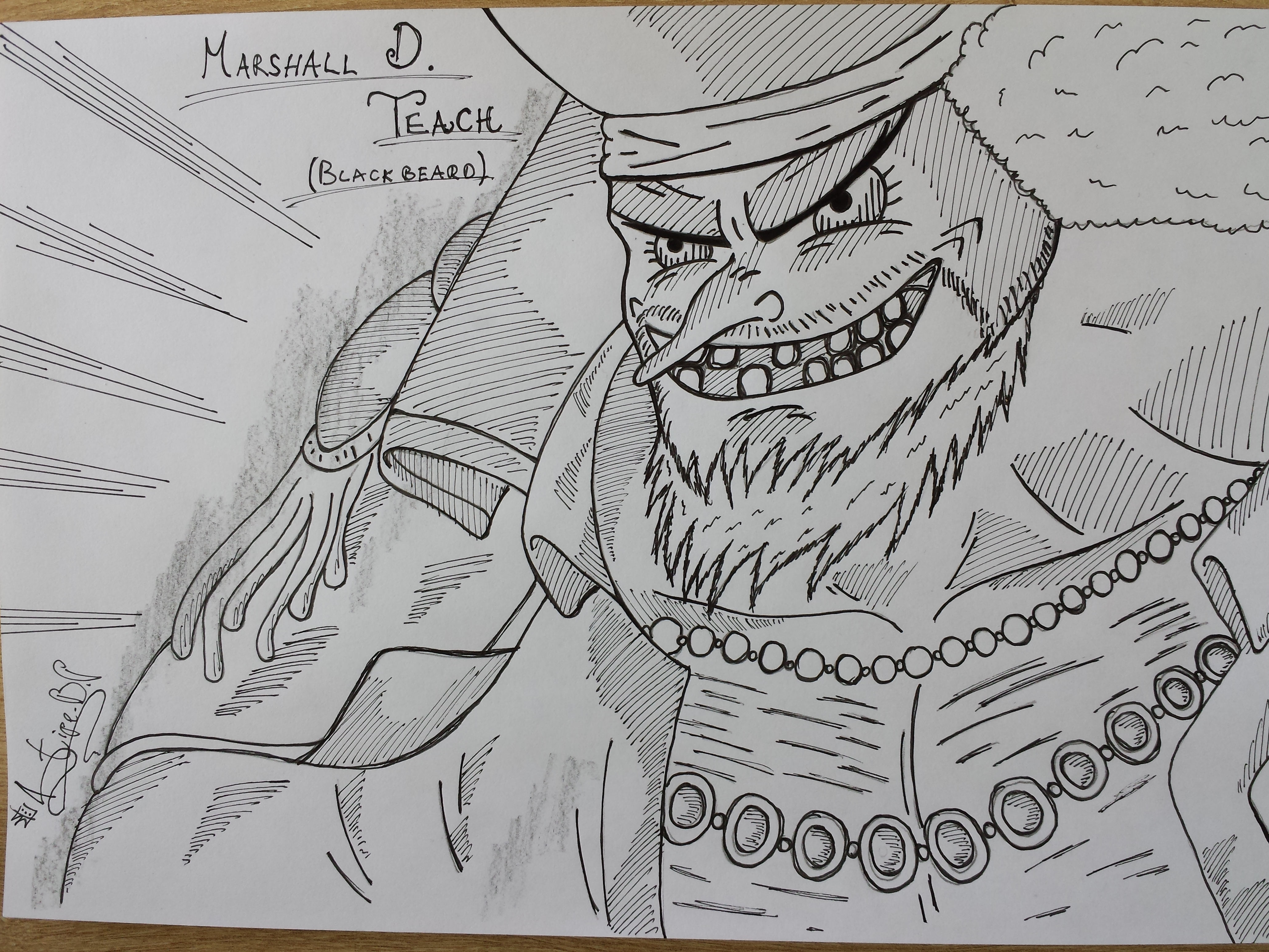 One Piece Lineart : One piece marshall d. teach blackbeard by stipe320 on deviantart