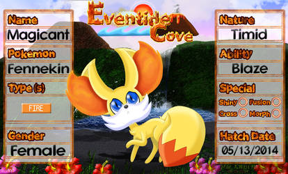PKMNation Ref - Magicant the Fennekin by EventideCove