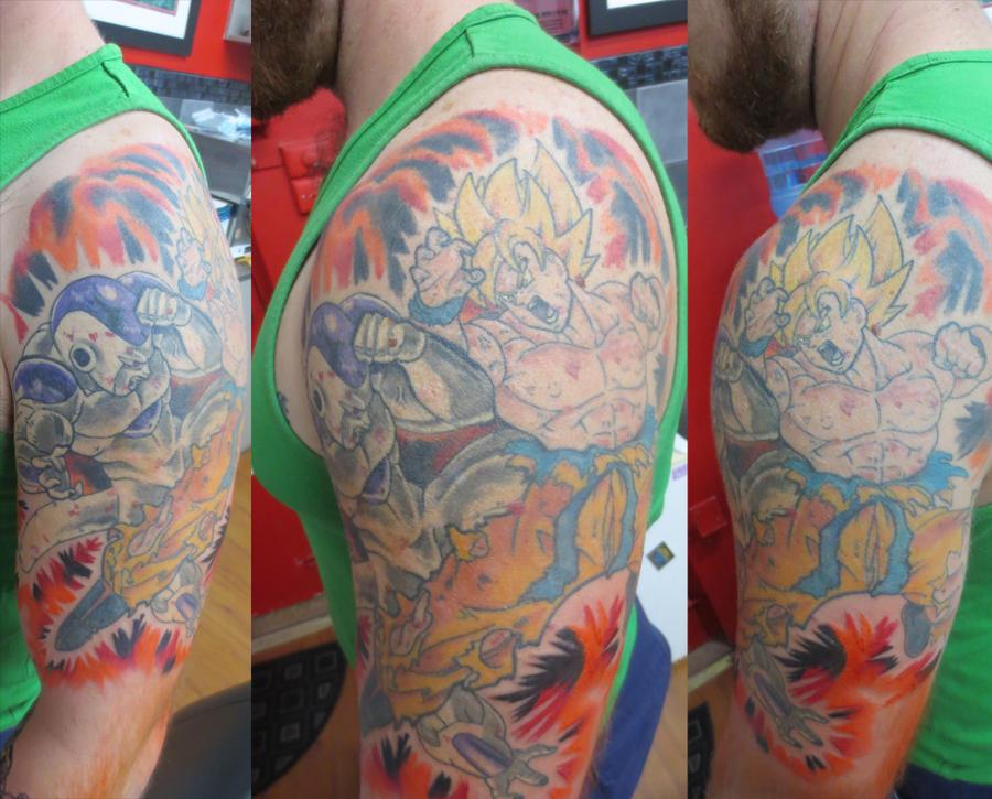 Dragon ball z sleeve by stickytounge on deviantart for Dragon balls tattoo