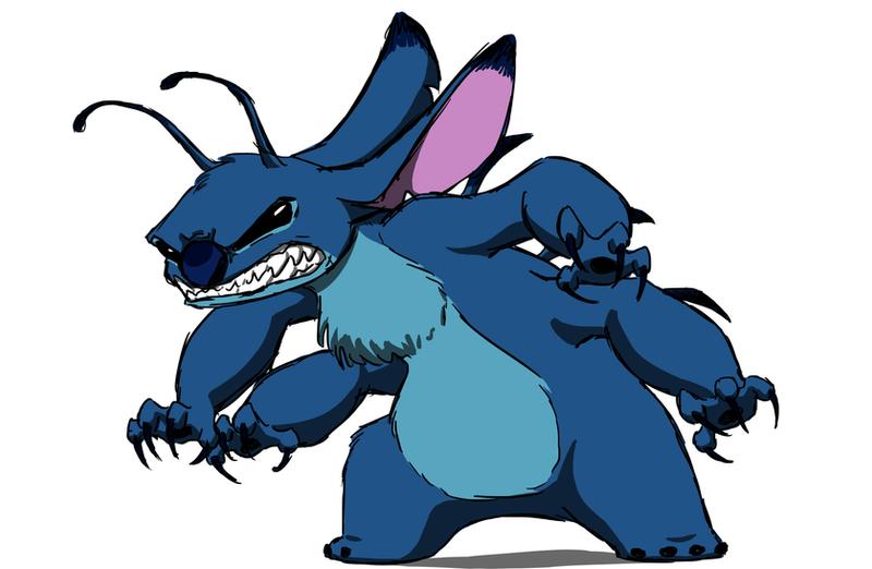 Angry Stitch Doodle by Kiki564 on DeviantArt