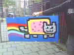 Nyan cat with graffiti 8D