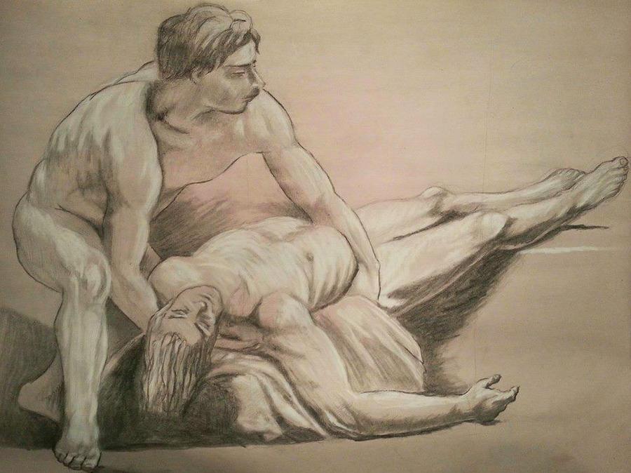 Master study of Nicolas-Bernard Lepicie by Swaptrick