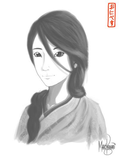 Kimono Girl Number 9 by onipetsu