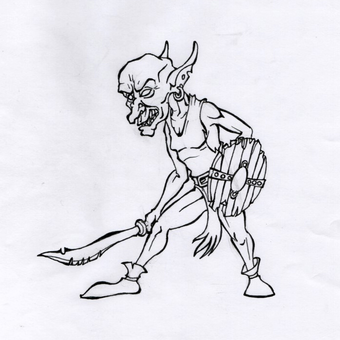 D and D / Goblin swordsgeb.