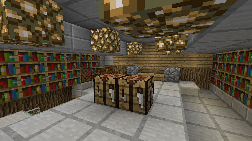 Minecraft beach house interior upstairs by it itches on for Beach house designs living upstairs