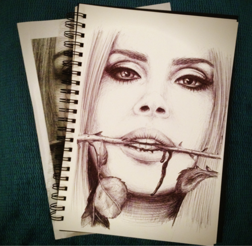 Lana Del Rey Rose by grandiosedelusions