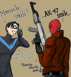 Monocle Smile :D by melimsah