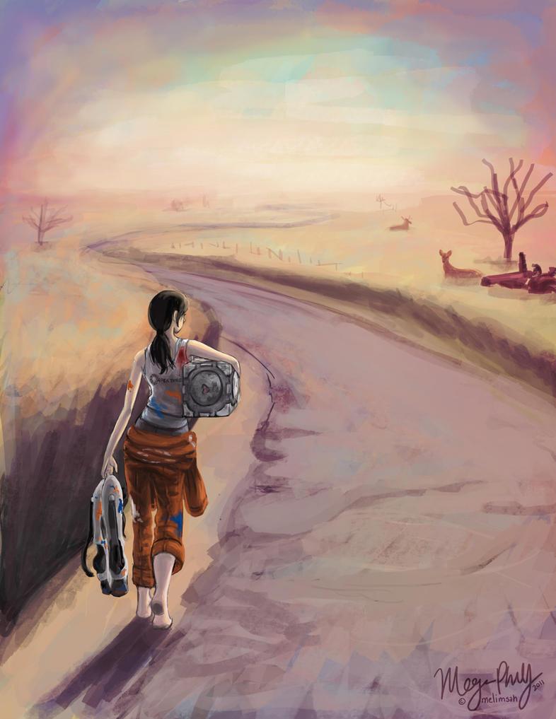 PoRTaL 2 - The Long Walk by melimsah