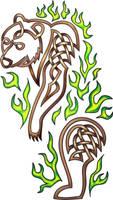 Green Fire Bear