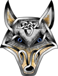 Celtic Knot Wolf Face