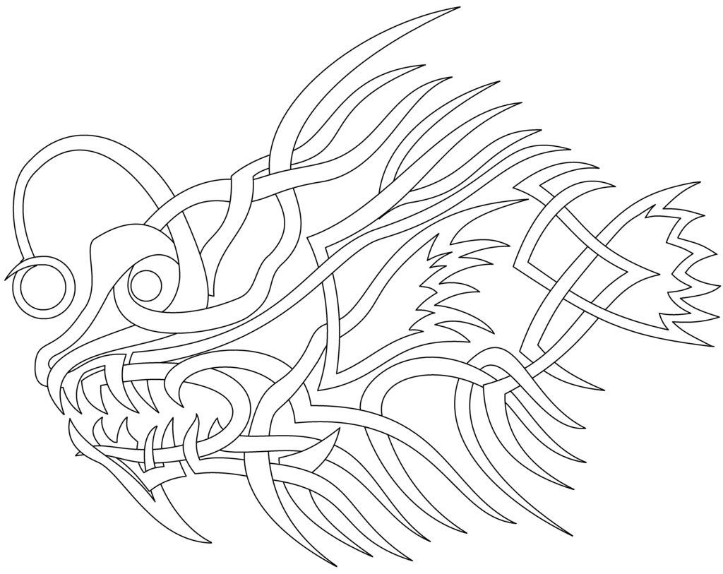 Celtic knot angler fish by knotyourworld on deviantart for Angler fish coloring page