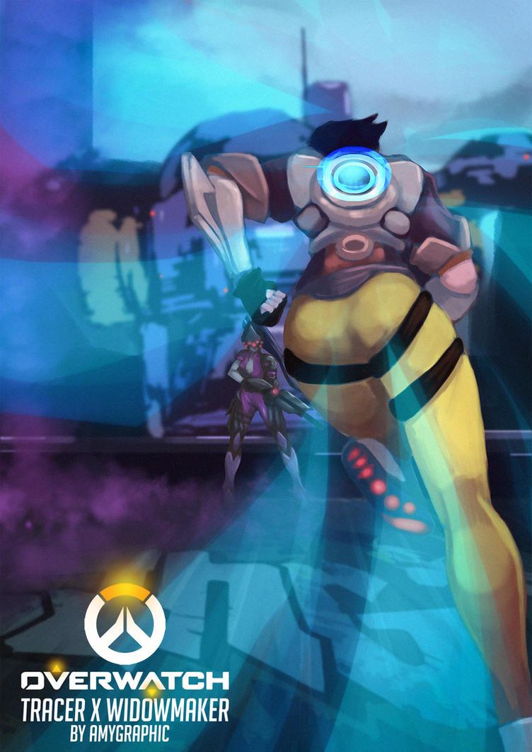 Overwatch - Tracer X Widowmaker by AmyGraphic