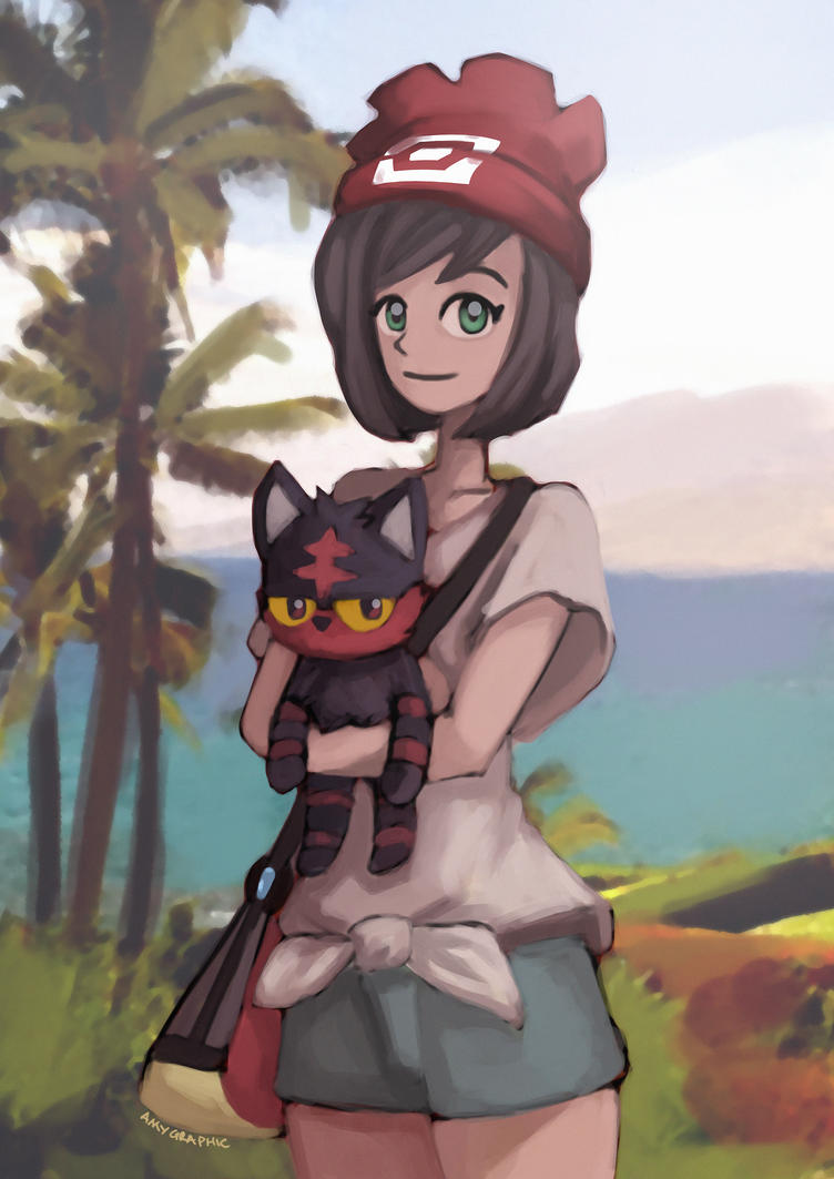 Pokemon Sun and Moon Fanart  (Time lapse Video) by AmyGraphic