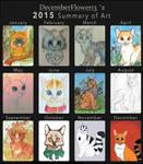 2015 My Summary of Art by Decemberflower13