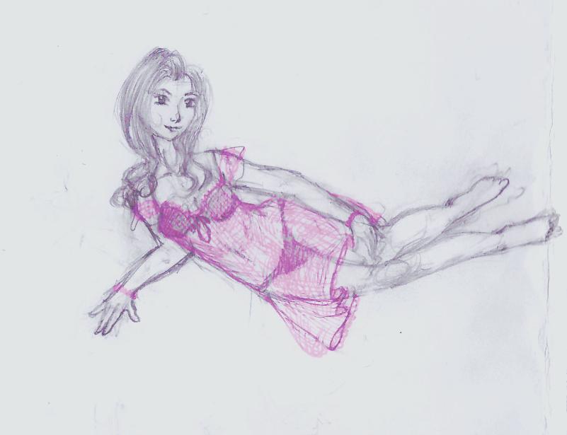 Girl in dress by Decemberflower13