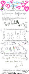 Meme of Handwritting by lostforeveragain
