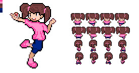 Pokemon Little Girl - Sprite by Can189