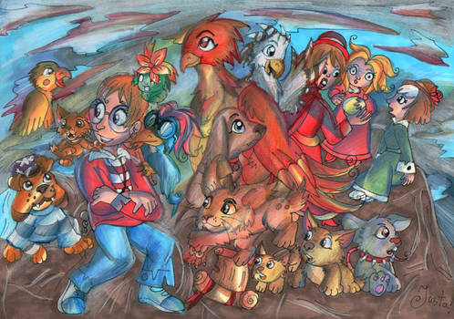 Kinga and her friends