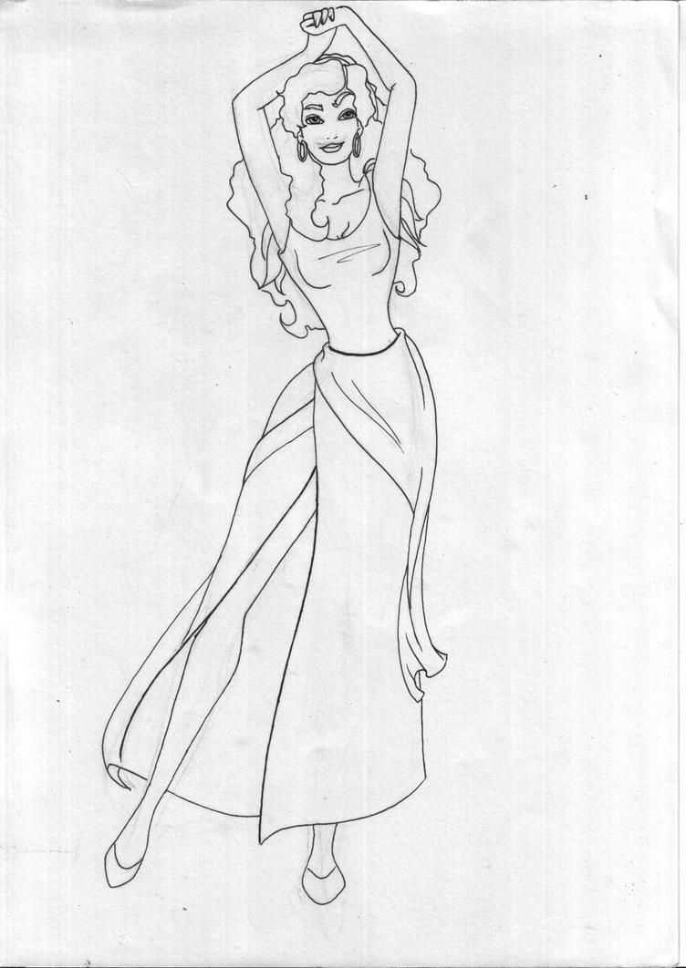 Esmeralda Lineart By Melon Ramune