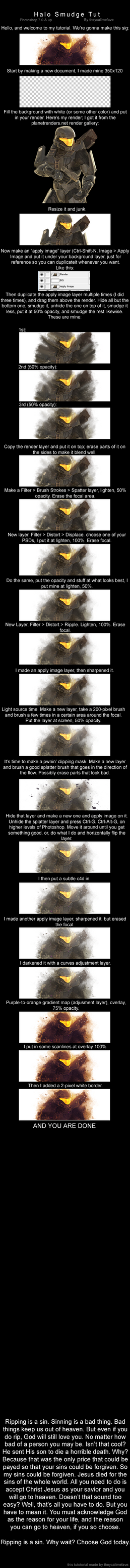 Halo Smudge Signature Tutorial by theycallmefave