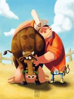 Cowboys do hug by MpakC