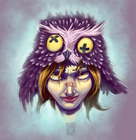 Girl With Owlhat