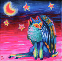 Owldeer painting by DynastyCoco