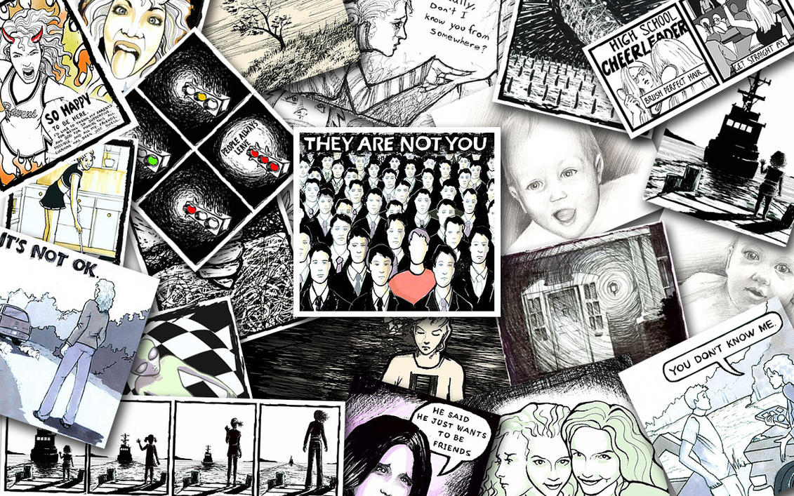 One Tree Hill Peyton Drawings They Are Not You peyton's art collage b...