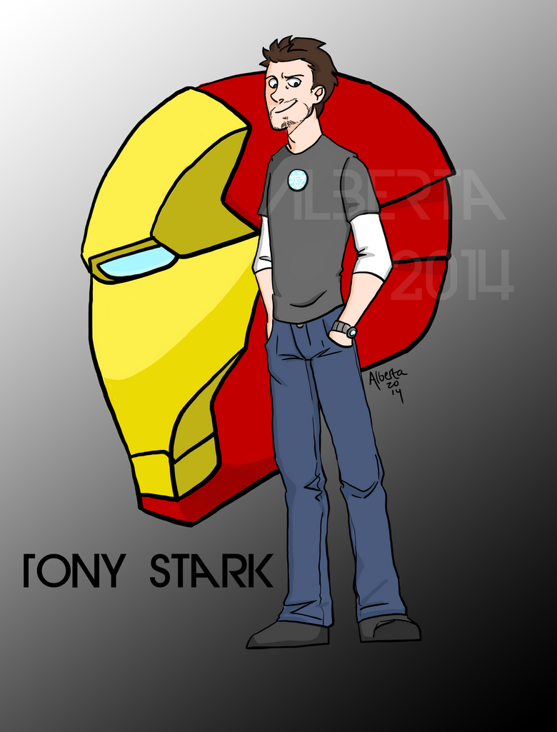 Tony stark by the winter phoenix on deviantart for Tony stark coloring pages