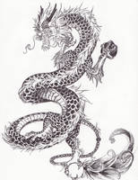 Chinese dragon detailed
