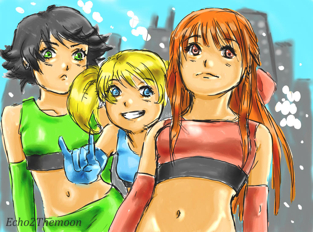 Power-puff Girls! by echo2themoon