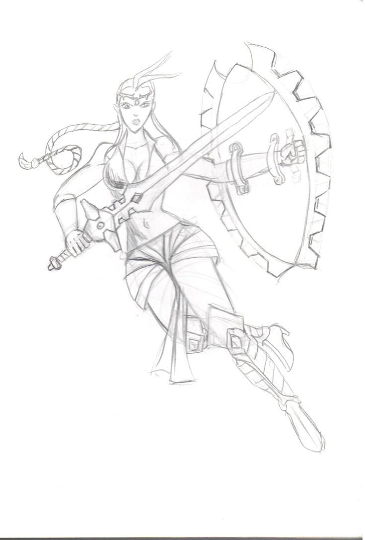 Female Warrior by Arcumus-Prime