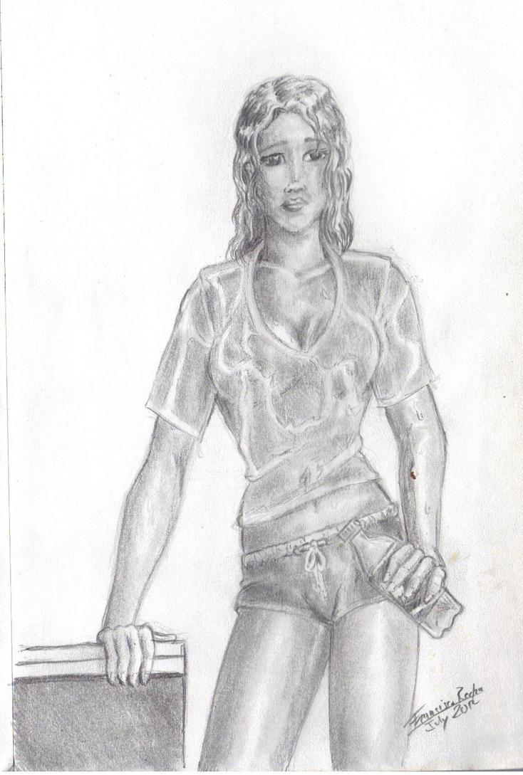 wet t-shirt by Arcumus-Prime