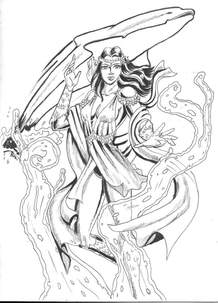 Water Maiden by Arcumus-Prime